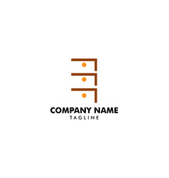 cabinet logo icon design template vector image