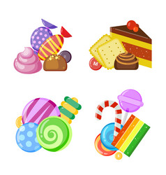 candy collection concept colored and juicy vector image