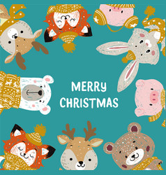 christmas posters template vector image