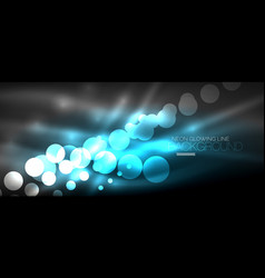 Circle abstract lights neon glowing background vector