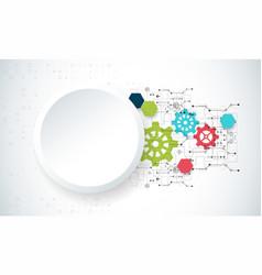 cogwheel hi-tech digital technology and vector image
