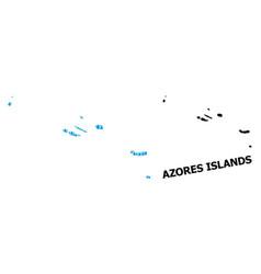 Collage map azores islands liquid vector