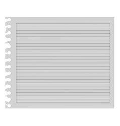 color notebook paper icon vector image