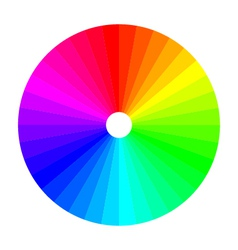 color wheel with shade of colors colour spectrum vector image