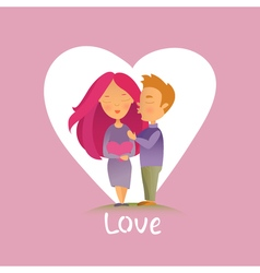 Couple in love 15 vector image