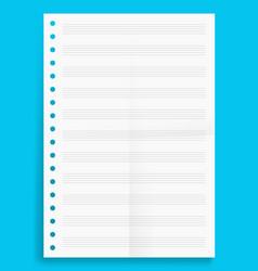 Crumpled standart blank music series a4 format vector