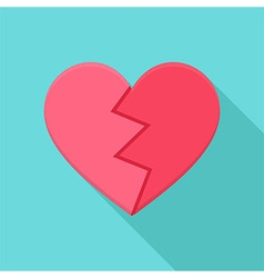 Crushed heart vector