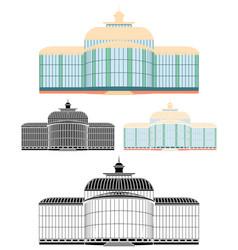 Crystal palace petropolis city vector