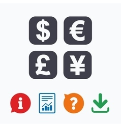 Currency exchange sign icon Money converter vector