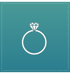 Diamond engagement ring icon vector image
