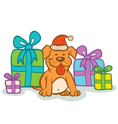 Dog gifts vector image vector image