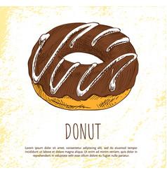 Donut sweet dessert isolated on white background vector