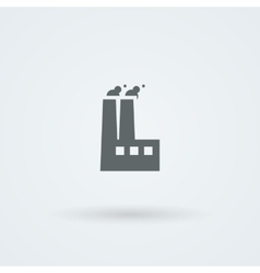factory icon Smoking pipes vector image
