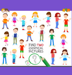 find two identical kid task for children vector image