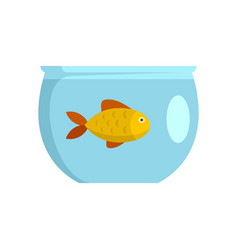 Fish in aquarium icon flat style vector