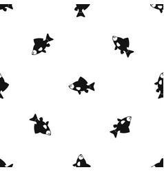 fish pattern seamless black vector image