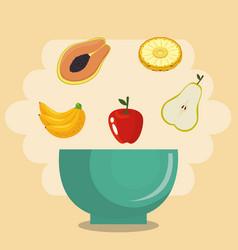 fresh fruits healthy food vector image