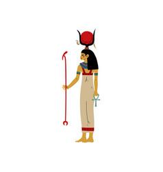 hathor goddes love beauty and art symbol of vector image