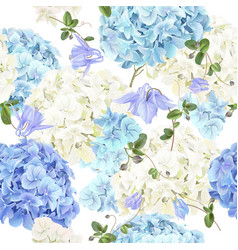 Hidrangea blue pattern vector