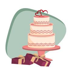 just married cartoon vector image