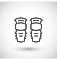 Knee guard line icon vector image