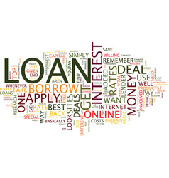 Loan text background word cloud concept vector