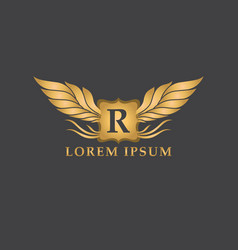 luxury logo design template vector image