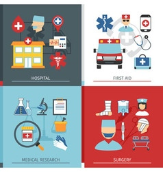 Medical Concept Set vector image