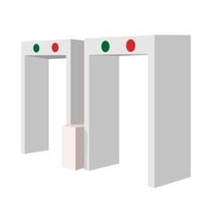 Metal detector cartoon icon vector image