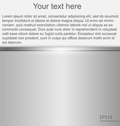 Metallic background with space for text vector image