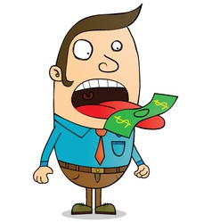 Money eater vector