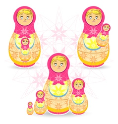 Mothers Day Matryoshka vector