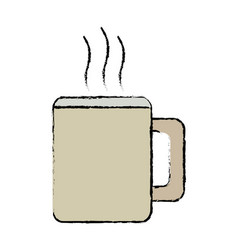 Mug coffee hot beverage drink icon vector