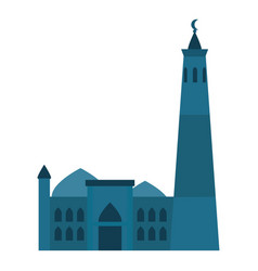 muslim building icon flat style vector image