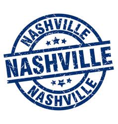 Nashville blue round grunge stamp vector