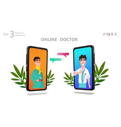 online doctor character or patient consultation vector image