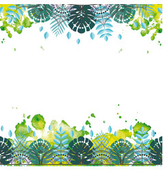 Pattern with tropical leaves vector