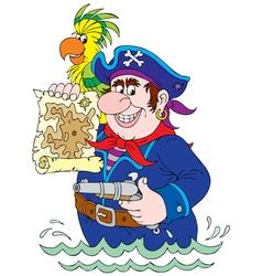 Pirate and Treasure Map vector