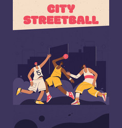poster city streetball concept vector image