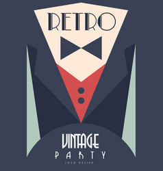 retro vintage party design element for poster vector image