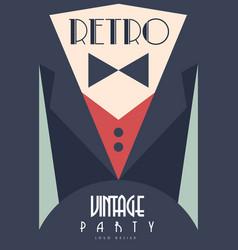 Retro vintage party design element for poster vector