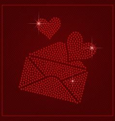 Rhinestone Valentines Day Template vector image
