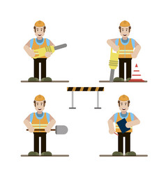 road worker set vector image
