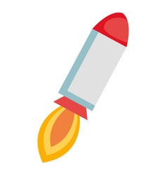 rocket launcher isolated icon vector image