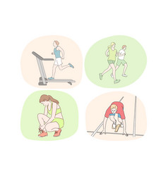 running healthy active lifestyle sport vector image