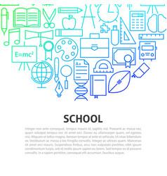 school line concept vector image