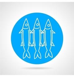 Sea fish blue round icon vector image