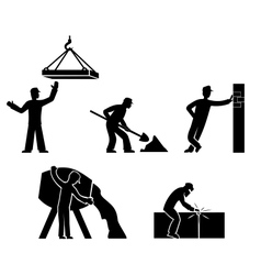 set builders outline vector image