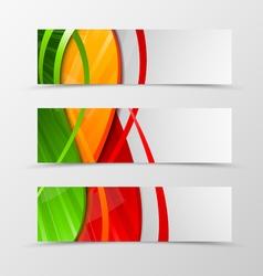 set header banner dynamic wave design vector image