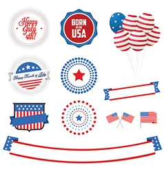 set independence day design elements vector image